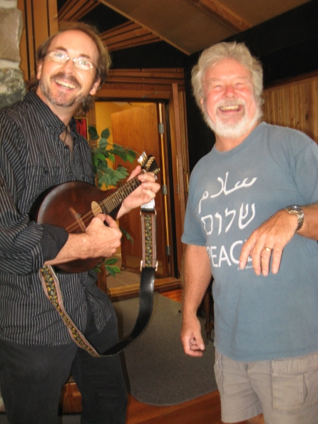 Dave and Reid - a mandolin moment!