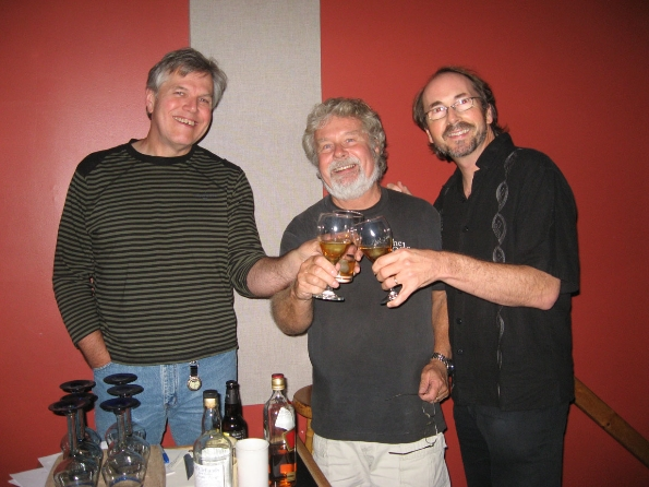 Wendell Ferguson, Reid and Dave Chester sharing a wee dram