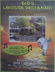 Dand D's Lakeside Restaurant Poster